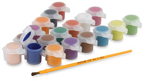 Set of 18 Pots w/Brush