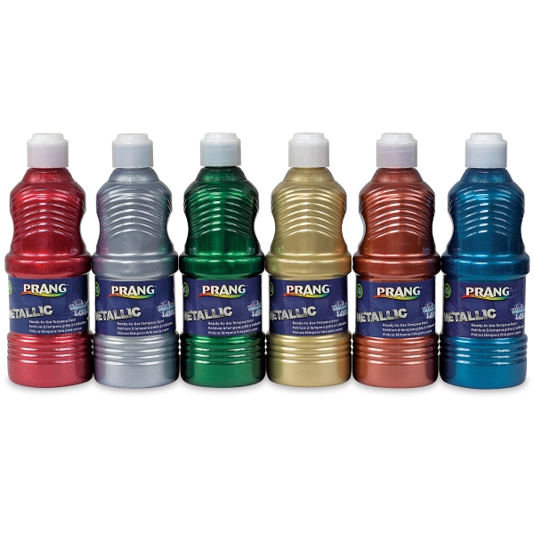 Metallic Set of 6, 16 oz Bottles