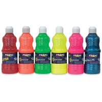 Fluorescent, Glitter and Metallic Set of 6, 16 oz Bottles