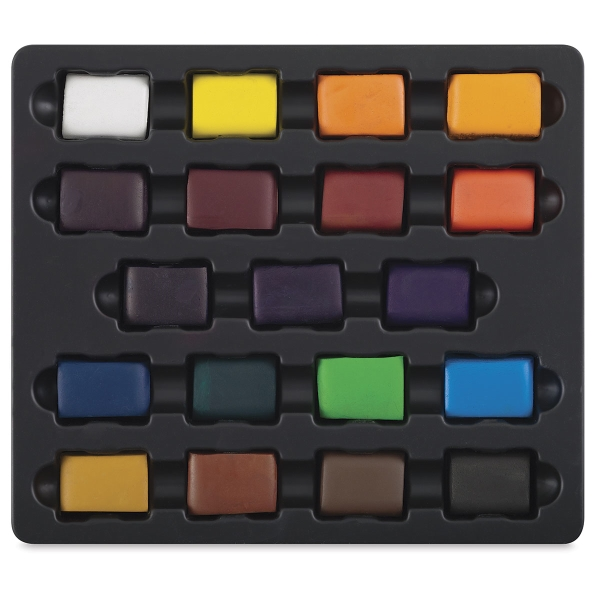 Small Square 19-Color Set with Tray and Lid