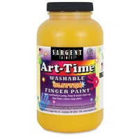 Sargent Washable Glitter Finger Paint, Yellow
