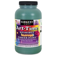 Sargent Washable Glitter Finger Paint, Green