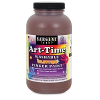 Sargent Washable Glitter Finger Paint, Brown