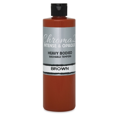 Chroma 2 Washable Tempera Paint, Brown, 16 oz