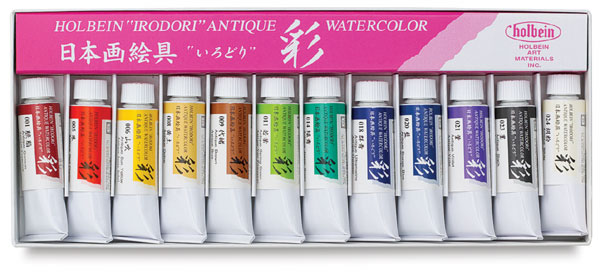Irodori Antique Watercolors, Set of 12