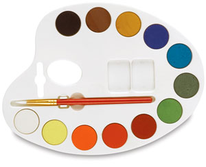 Watercolor Palette Shaped Set