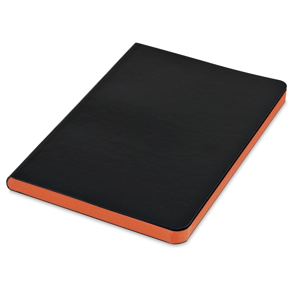 Faux Leather Journal, Orange Pages