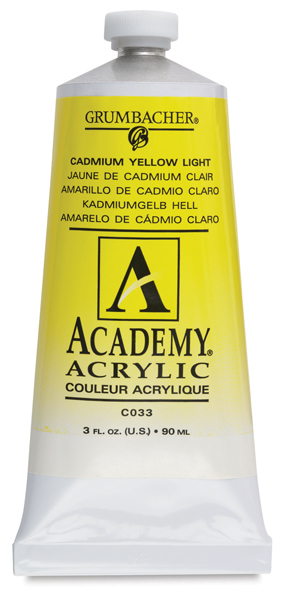 Cadmium Yellow Light Hue, 90 ml Metal Tube