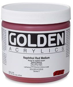 Naphathol Red Medium, 16 oz Jar