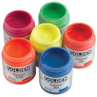 Golden Fluorescent Heavy Body Acrylic Paint