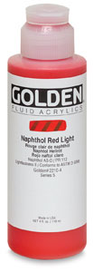 Naphthol Red Light, 4 oz Bottle