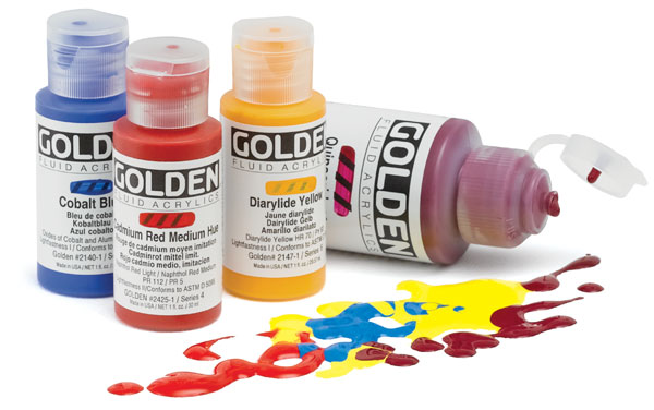 golden fluid acrylics blick art materials