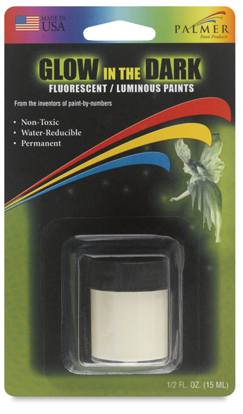 Glow-In-The-Dark Luminous Paint, 0.5 oz