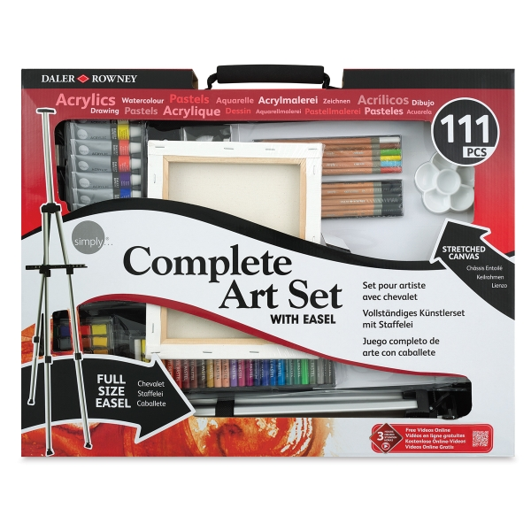 111-Piece Art Set with Easel