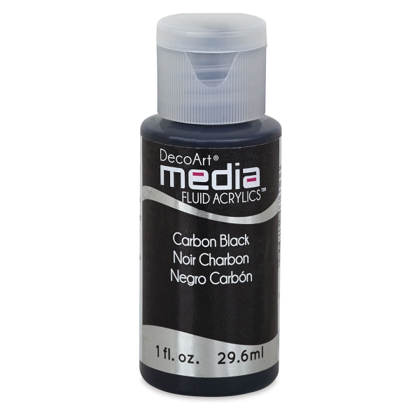 DecoArt Media Fluid Acrylic, Carbon Black