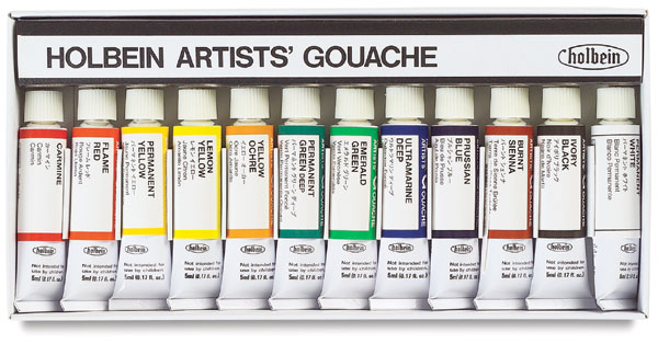 Artists' Set of 12 Colors, 5 ml Tubes
