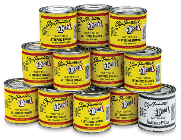 Set of 12 Enamels, ½ Pint Cans