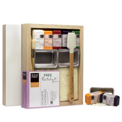 Encaustic Starter Set with  FREE  Catalyst Size 01 Mini-Blade