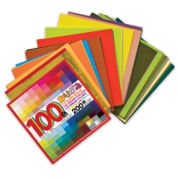Aitoh 100 Color Origami Paper Pack