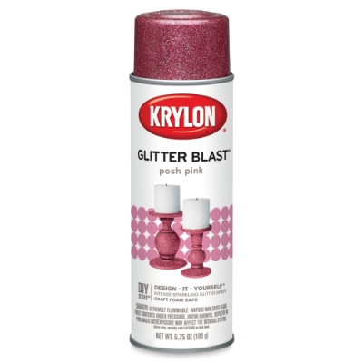 Glitter Blast Spray Paint, Posh Pink