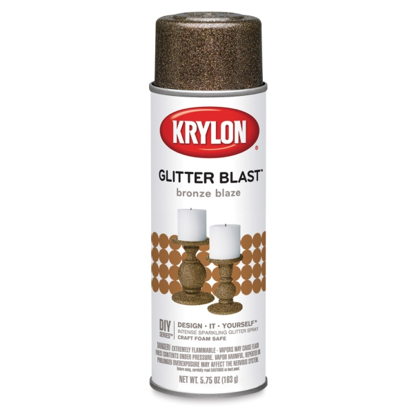 Glitter Blast Spray Paint, Bronze Blaze