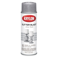 Glitter Blast Spray Paint, Silver Flash