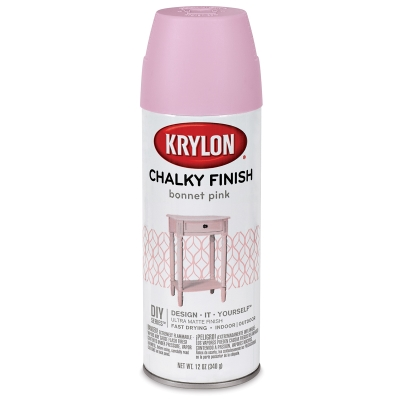 Chalky Finish Spray Paint - Bonnet Pink