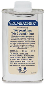 Turpentine, 8 oz (container may vary)