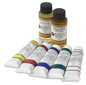 Set of 5 Colors w/ <strong>FREE</strong> Mediums