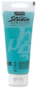 Pebeo High Viscosity Studio Acrylic, Iridescent Green/Blue