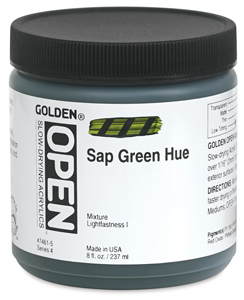 Sap Green Hue, 8 oz Jar
