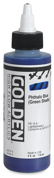 Phthalo Blue (Green Shade), 4 oz Bottle