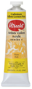 Artists' Acrylic Paint, Cadmium Yellow Lemon Pure, 2 oz
