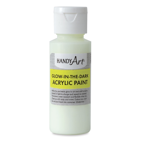 Glow-in-the-Dark Acrylic Paint, Clear