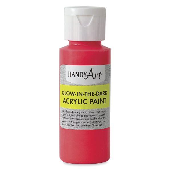 Glow-in-the-Dark Acrylic Paint, Red