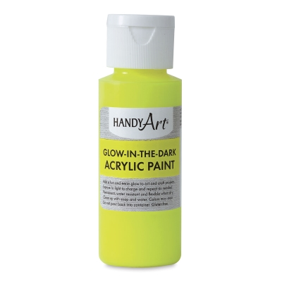Glow-in-the-Dark Acrylic Paint, Yellow