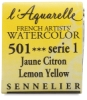 Watercolor Half Pan, Lemon Yellow
