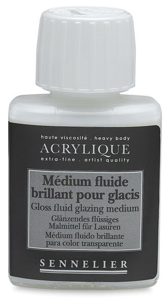 Gloss Fluid Glazing Medium, 75 ml