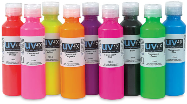 UVFX Black Light Poster Paints, 120 ml size