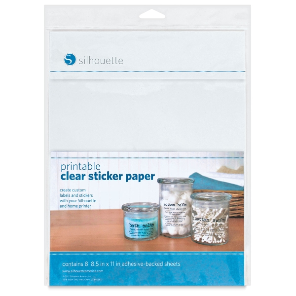 Printable Clear Sticker Paper, 8 Sheets