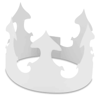 Hygloss Paper Crowns, Pkg of 24