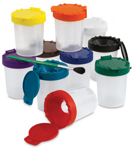 No-Spill Paint Cups, Set of 10