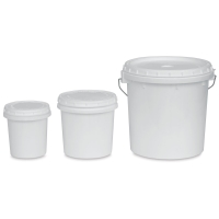 Utrecht Plastic Buckets with Lids