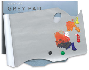 Grey Pad Disposable Palette, Hand-Held