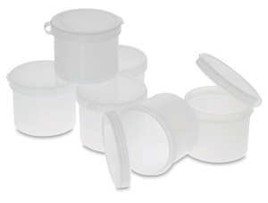 Plastic Palette Cups, 2 oz, Pkg of 6