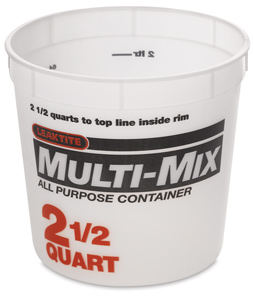 Plastic Tub, 2½ Quart