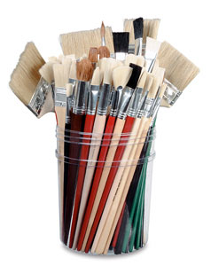Jumbo Brushes Set, 96 Brushes