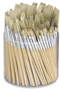 Tub of 144 Brushes, Flat