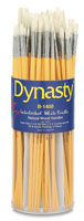 Dynasty White Bristle Brushes