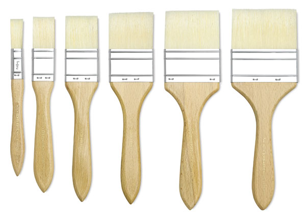 "Gesso Brush, Sizes <nobr>1/2""–3""</nobr>"